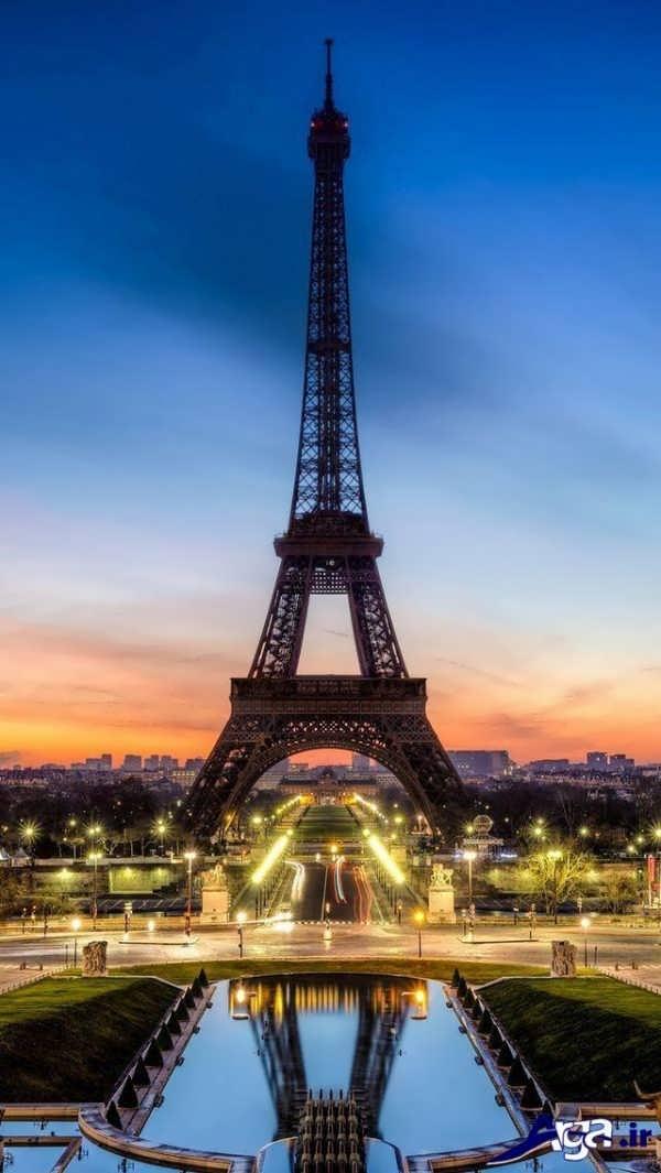 عکس های برج ایفل در غروب