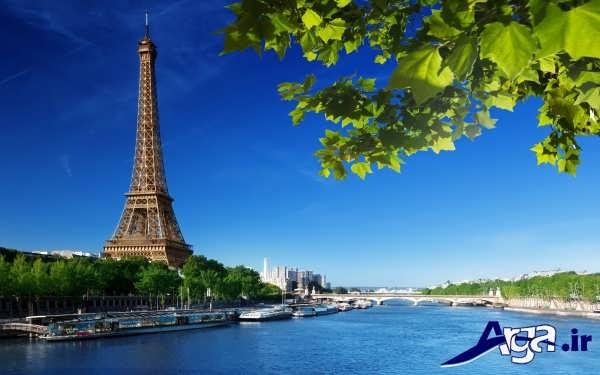 عکس های برج ایفل در کنار رودخانه