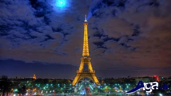 عکس های برج ایفل و نورپردازی