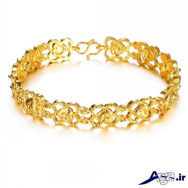 مدل دستبند طلا طرح زیبا