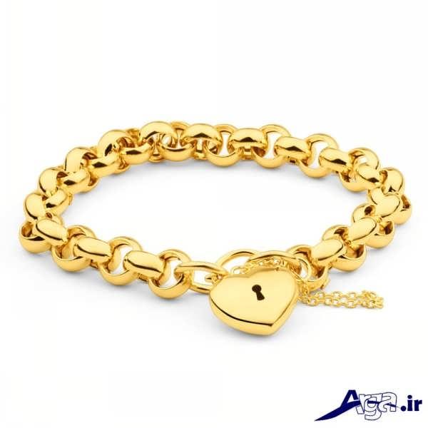 مدل دستبند طلا طرح قفل