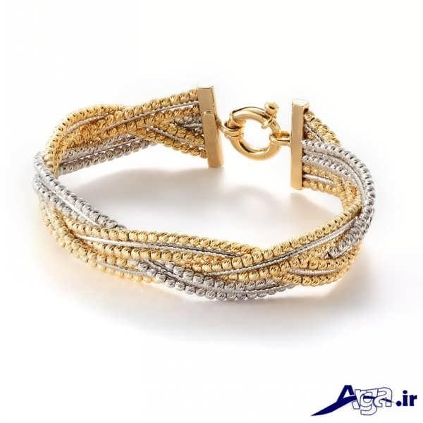 مدل دستبند طلا ترکیبی