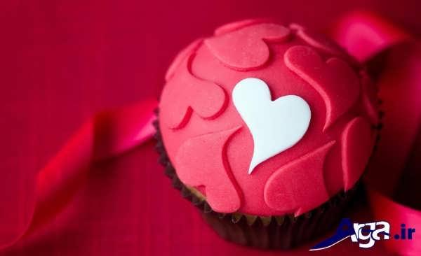 عکس های قلب فانتزی کاپ کیک