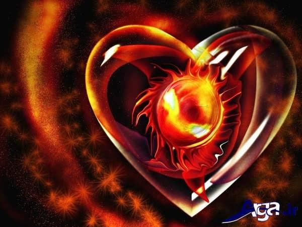 عکس های قلب آتشین