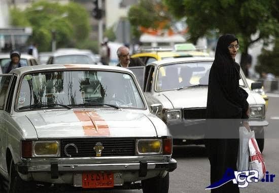 عکس ماشین تاکسی پیکان