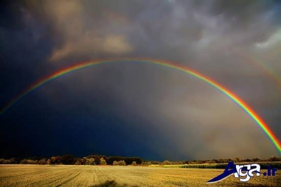 عکس رنگین کمان فوق العاده زیبا و جالب