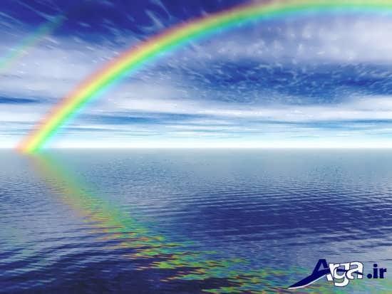 عکس رنگین کمان در دریاهای نیلگون