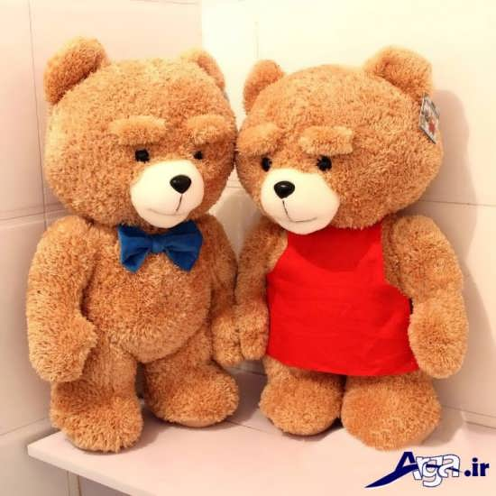 عکس دو خرس عروسکی بسیار زیبا