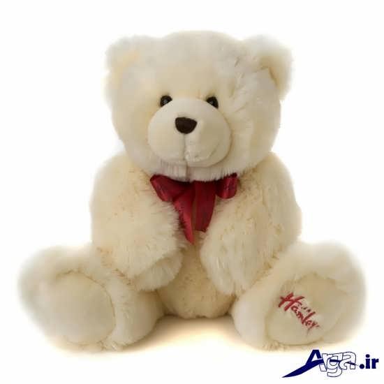 عکس خرس عروسکی شیری