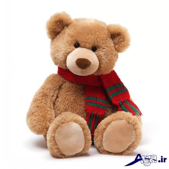 عکس خرس عروسکی با شالگردن