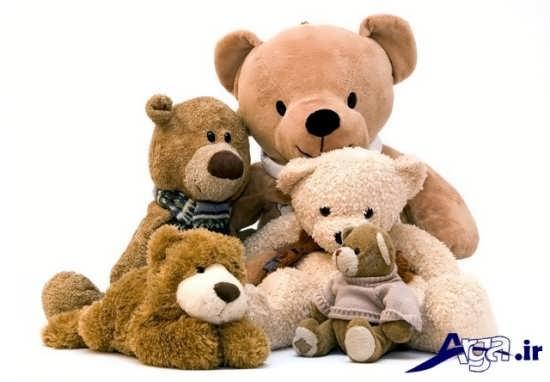 عکس خرس های عروسکی در کنار هم