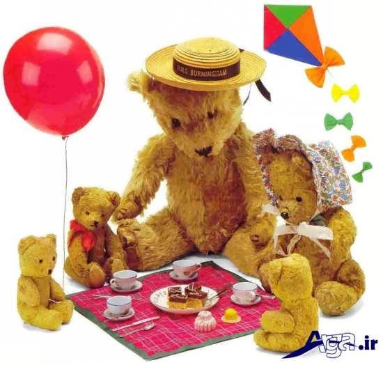 عکس خانواده خرس های عروسکی