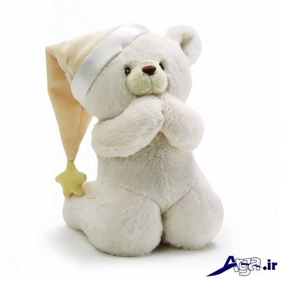 عکس خرس عروسکی با کلاه
