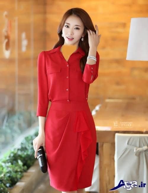 مدل مانتو کره ای قرمز