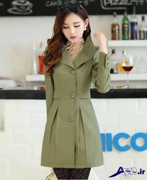 مدل مانتو کره ای سبز