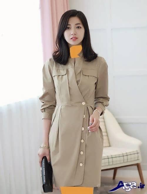 مدل مانتو کرمی کره ای