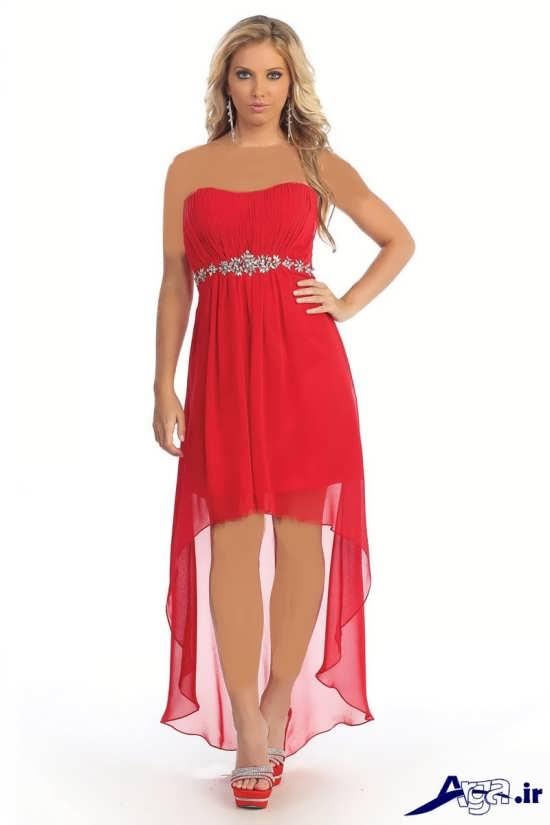 لباس مجلسی بلند دخترانه قرمز