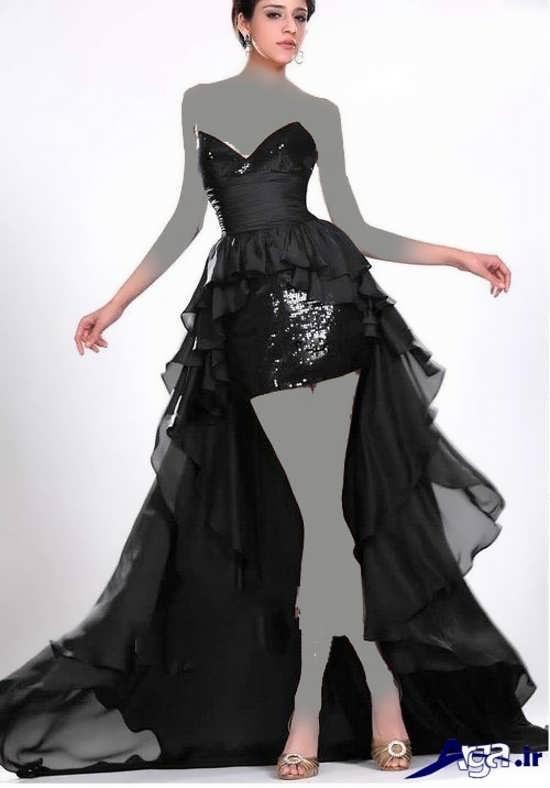 لباس مجلسی دنباله دار بلند دخترانه