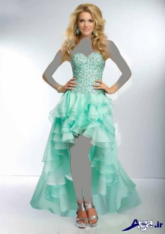 لباس مجلسی سبز بلند دخترانه