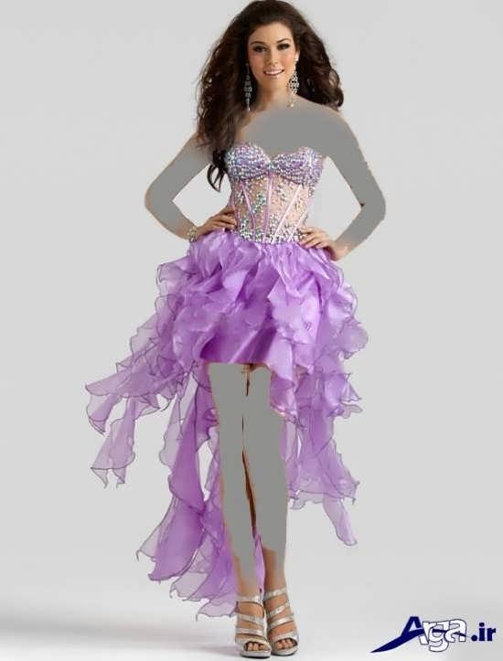 لباس مجلسی بلند دکلته دخترانه