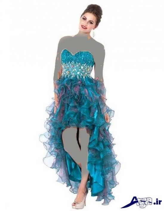 لباس مجلسی شیک دکلته دخترانه