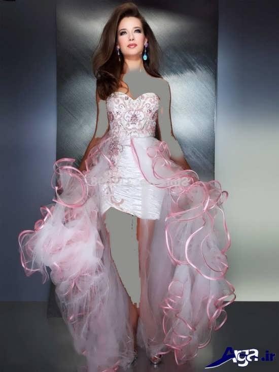 لباس مجلسی بلند صورتی دخترانه