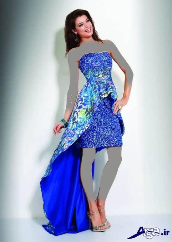 لباس مجلسی بلند رنگ شاد دخترانه