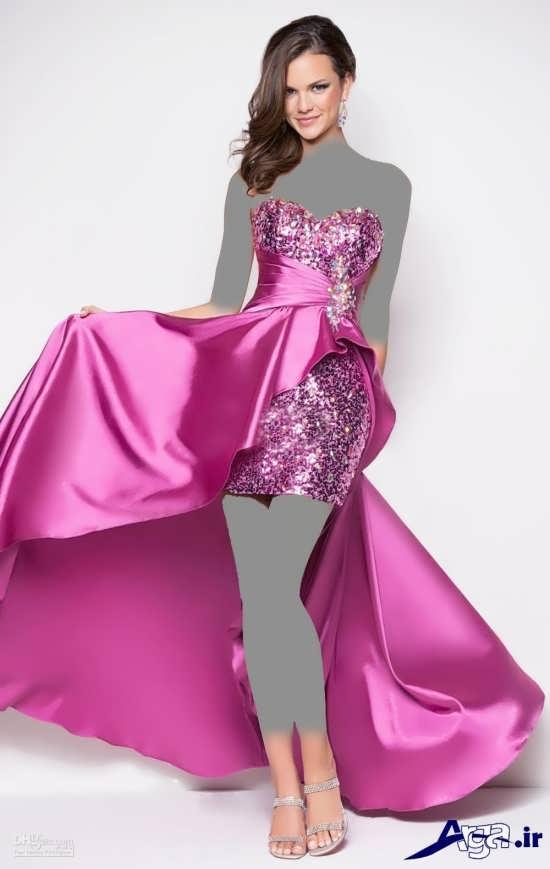 لباس مجلسی بلند ساتن دخترانه