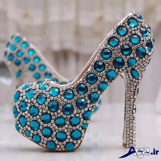 مدل کفش مجلسی زنانه نگین دار