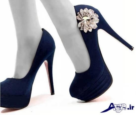 مدل کفش مجلسی زنانه ساده گلدار