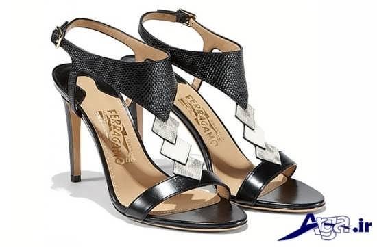 مدل کفش مجلسی زنانه مشکی نگین دار