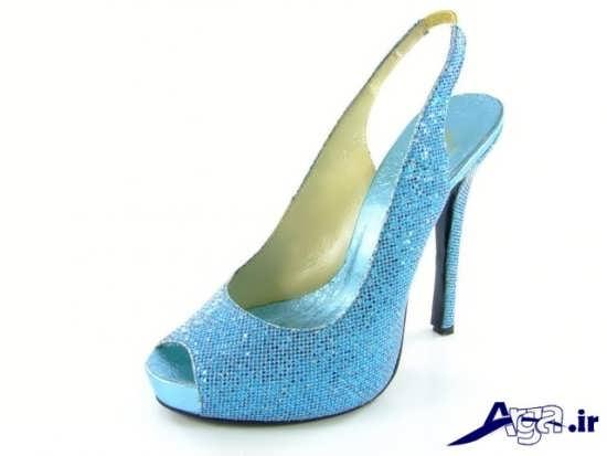 مدل کفش مجلسی زنانه آبی کمرنگ
