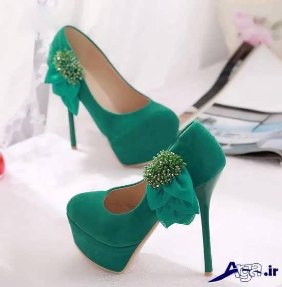 مدل کفش مجلسی زنانه سبز