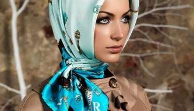 روش های بستن روسری چهارگوش