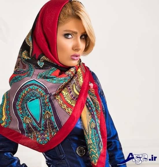 روسری بزرگ و روش بستن