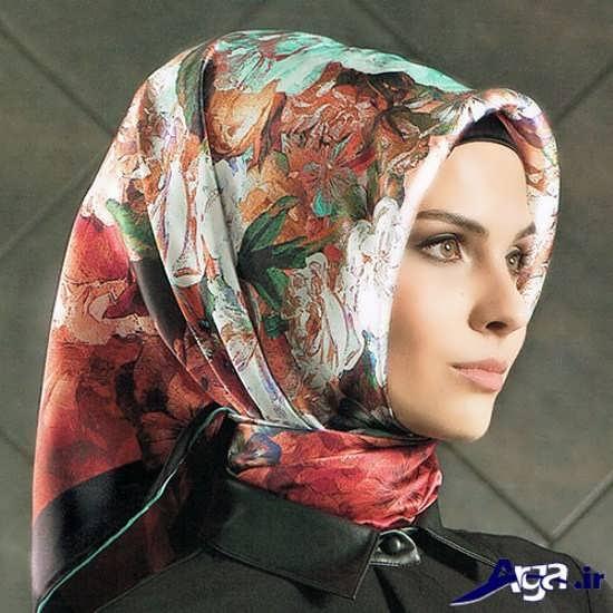 روش بستن روسری شیک