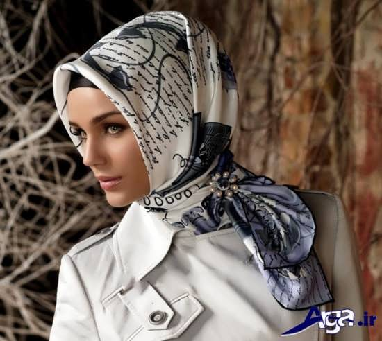 مدل بستن روسری چهارگوش95