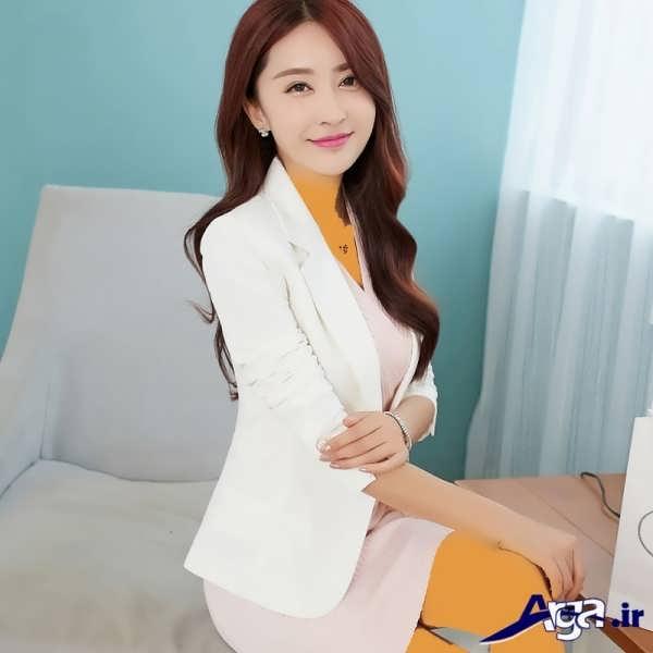 مدل کت تک دخترانه سفید
