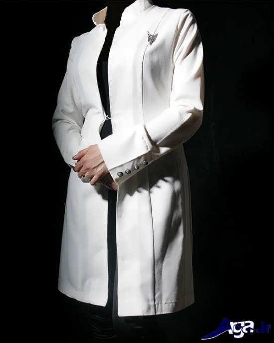 مدل مانتو کتی مجلسی سفید زیبا