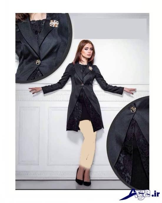 مدل مانتو کتی مجلسی با سارافون