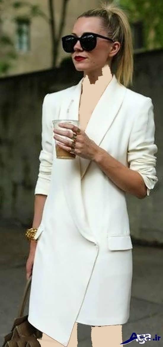مدل مانتو کتی سفید