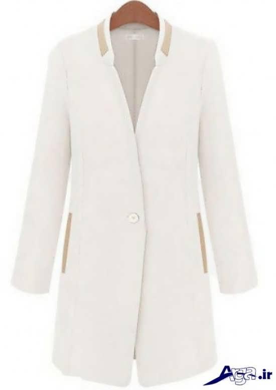 مدل مانتو کتی سفید جذاب