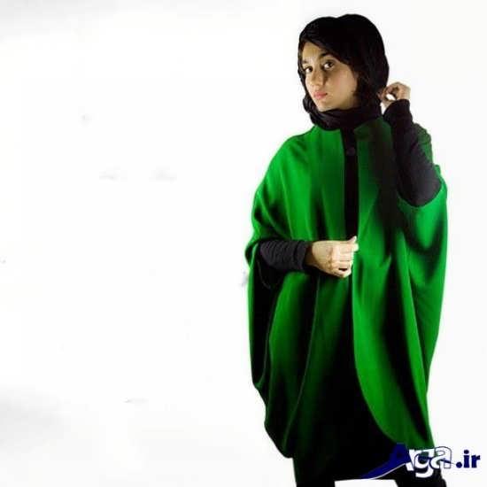 مدل مانتو پانچ سبز
