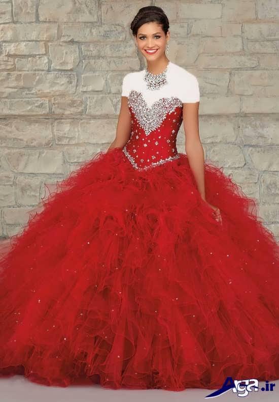 مدل لباس پرنسسی قرمز