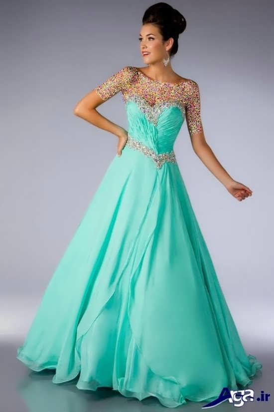 مدل لباس پرنسسی با رنگ زیبا