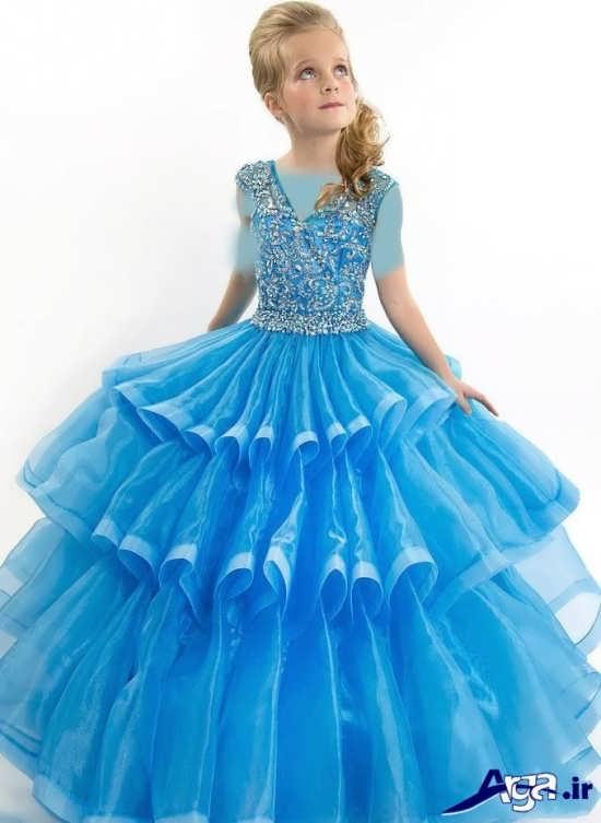 مدل لباس پرنسسی طبقه ای
