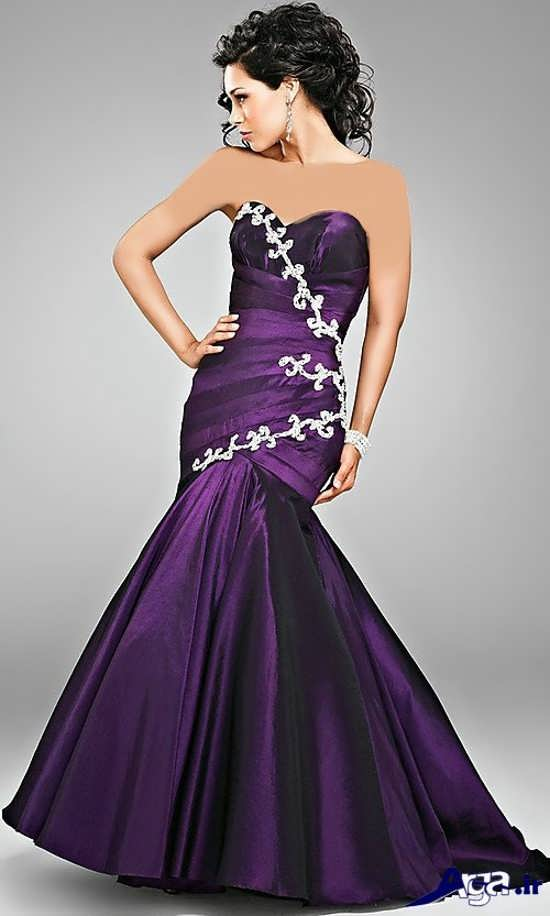 لباس پرنسسی دخترانه بنفش