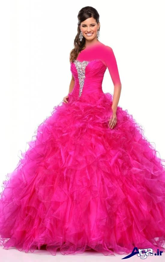 مدل لباس پرنسسی صورتی دخترانه