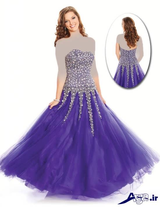 مدل لباس پرنسسی بنفش