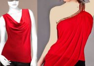 مدل تاپ زنانه قرمز جذاب